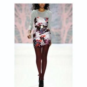 Tibi Strapless Sweatheart Multi Color Dress